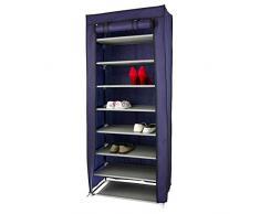 rebecca mobili Armario Zapatos 9 Niveles Tela con Cremalleros Mueble Almacenamiento organizador Dormitorio (RE4974)