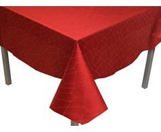 Soleil docre Mantel Antimanchas Cuadrado 180x180 cm Fiesta Rojo