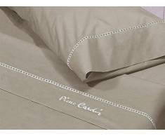 Pierre Cardin Juego de sábanas Arcadia 200 Color Marrón, Algodón, Cama 200 cm