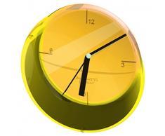 Glamour Bugatti - Reloj de pared, amarillo