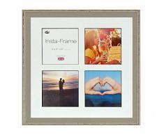Inov8 16 x 40,64 cm Insta-Frame Austen Marco para Instagram 4/de Estampado a Cuadros de Fotos con paspartú Blanco y Negro con Borde, Gris se Debe Lavar a