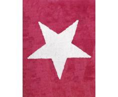 Aratextil Estela Alfombra Infantil, Algodón, Magenta, 120x160 cm