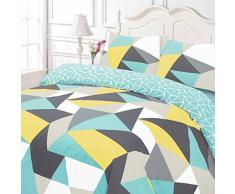 Dreamscene Funky formas funda de edredón juego de ropa de cama, multicolor – doble
