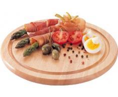 Domestic by Mäser, plato redondo de madera 25 cm claro, ideal también en la vida cotidiana