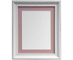 Frames by Post Marco de Fotos, Estilo Shabby Chic, plástico, Blanco, 45 x 30 cm Image Size 14 x 8 Inches