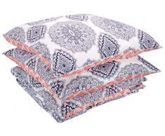 AmazonBasics - Juego de funda nórdica ligera de algodón - 155 x 200 cm / 80 x 80 cm, Medallón