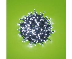 12,5 m 300 ledes blancos con efecto de luz, cable verde, EX Best Value, iluminación para árbol de Navidad, iluminación navideña