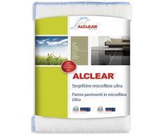 ALCLEAR 950009 - Paño para Limpiar el Suelo (Microfibra, 60 x 40 cm, para Suelos de baldosa, mármol, Laminado y parqué), Color Blanco