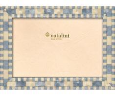 Natalini MISSORI Azzurro 10X15 Marco de Fotos con Soporte para Mesa, Madera, Azul Claro, 10 X 15 X 1,5