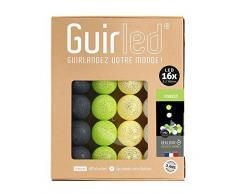 Guirnalda luminosa Bolas de algodón LED USB – cargador USB doble 2 A) – 3 intensidades – 16 bolas – Forest