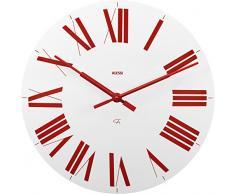Alessi 12 WR Firenze - Reloj de pared (ABS, mecanismo de cuarzo), color blanco y rojo