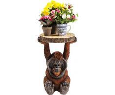 Kare Design Mesa Animal Orangutan, 52 x 35 x 33 cm, Madera, Marrón