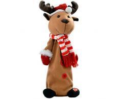 WeRChristmas 35 cm saltando y cantando decoración para árbol de Navidad, Multi-color