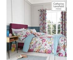 Catherine Lansfield Salisbury Easy Care - Juego de Funda nórdica y Funda de Almohada para Cama de Matrimonio, Multicolor
