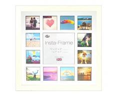 Inov8 16 x 40,64 cm Insta-Frame Marco para Instagram 13/de Estampado a Cuadros de Fotos con paspartú Blanco y Negro con Borde, 2 Unidades, Crema 306