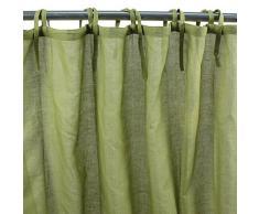 Rumba (-Cortina de algodón 140 x 250 cm, color verde) • 100% algodón-Monbeaurideau