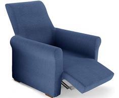 PETTI Artigiani Italiani Azul, Relax, Funda Sillon Elastica, 100% Made in Italy, 80 a 100 cm