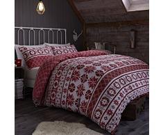 Catherine Lansfield CL Oslo Red - Funda nórdica para cama de 90 cm