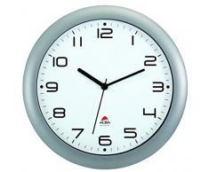 Alba Hornew M - Reloj de pared (mecanismo de cuarzo silencioso, 30 x 5,5 x 30 cm), color metal