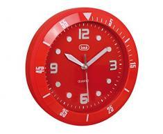 Trevi OM 3507Â S Reloj de Pared, Rojo, 29Â x 29Â x 6Â cm