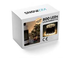 SnowEra SN-4909 Cadena de Luces Decorativas 800 LED, 3 V, 0,0075W, Color Blanco Cálido