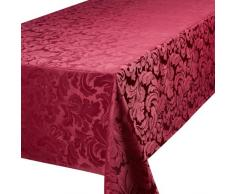 Premier Home Creations Cadiz - Mantel rectangular (177,8 x 274,3 cm), color rojo