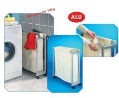 Ruco V217 - Cesto con ruedas para la ropa sucia, color crema