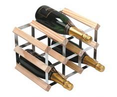 Wine Racks WNRK0014–Botellero para Vino Accesorio de 3x 2Pino Natural Acero galvanizado montado–WNRK0013