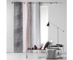 Algodón de Interieur textilio Cortina a Ojales 140x 240cm algodón Imprime textilio Rosa algodón 240x 140cm