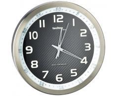 Technoline Wt 8970 - Reloj de Pared, color Aluminio Y negro
