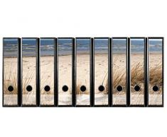 codiarts Juego con 9Pieza Amplia Carpeta de Etiquetas Autoadhesivas (Lomo de archivadores Adhesivos) traumhafter Playa Visión para su 540130, Duna Playa & Mar