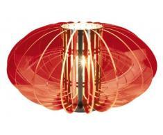 Naeve Leuchten 322921 - Lámpara de mesa (metal y fibra acrílica, 1 bombilla E27, 60 W no incluida, 42 x 42 x 22 cm), color naranja