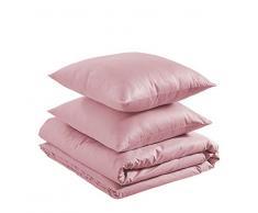 AmazonBasics - Juego de funda nórdica ligera de algodón - 200 x 200 cm / 65 x 65 cm, Rosa polvo