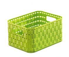 Rotho Country Cesta de 2 l, Plástico (PP), Verde Lima, 2 Liter (18.3 x 13.7 x 9.8 cm)
