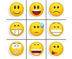 Eurographics MB-MAG1004 Smile - Imanes para pizarra magnética, diseño de emoticonos