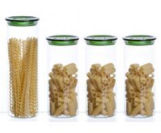 Bohemia Cristal - Tarros para conservar alimentos (4 unidades)