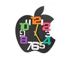GMMH 1104 - Reloj de pared (35 cm), forma de corazón, color negro