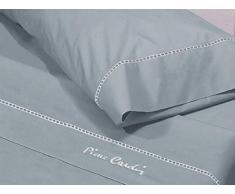 Pierre Cardin Juego de sábanas Arcadia 90-Color Azul, Algodón, Cama 90 cm