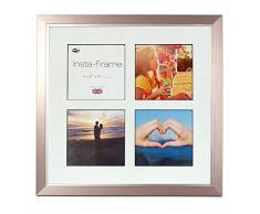Inov8 16 x 40,64 cm Insta-Frame Marco para Instagram 4/de estampado a cuadros de fotos con paspartú blanco y negro con borde, peltre con borde plateado