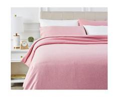 AmazonBasics - Juego de ropa de cama con funda de edredón, de microfibra, 200 x 200 cm, Rojizo (Sandy Red)