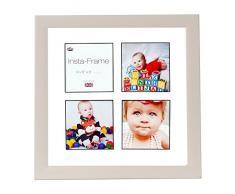 Inov8 16 x 40,64 cm Insta-Frame Marco para Instagram 4/de estampado a cuadros de fotos con paspartú blanco y negro con borde, Gris