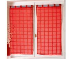 Douceur dIntérieur 1622966 - Cortina, 2 x 60 x 120 cm, color Rojo