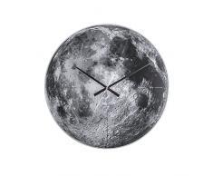 Karlsson KA5475 - Reloj de pared, diseño luna, movimiento silencioso