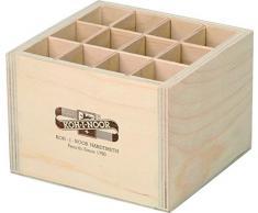 Koh-I-Noor Caja de almacenamiento cuadrada de madera para bolígrafos/lápices mecánicos/pinceles