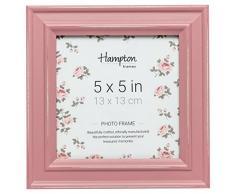 Hampton Frames - Marco de Fotos Cuadrado (13 x 13 cm), Color Rosa