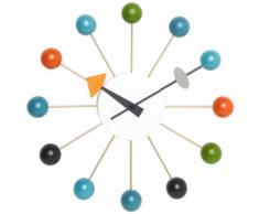 Vitra 20125003 - Reloj de pared con diseño de bolas, diámetro: 330 mm, multicolor