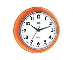 Trevi OM 3314 S - Reloj de pared de diseño retro años 60`s, 24.5 cm de diámetro, color naranja