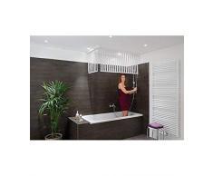 Kleine Wolke 3319100745 Cortina de ducha de esquina, 138x62x240 cm, blanco