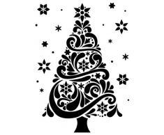 Darice Carpetas de estampación, Plantilla árbol de Navidad, Plastic, 10,8 x 14,6 cm