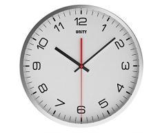 Unity Highwood - Reloj de pared silencioso, color blanco